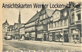 Ansichtskarte Hameln Osterstraße mit Porzellanhaus von Erich Kahler