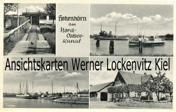 Ansichtskarte Hohenhörn Gasthaus Nottelmann Kegelbahn Hafen Fähre