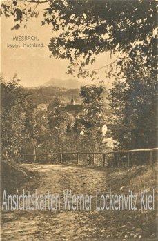 Ansichtskarte Miesbach Blick auf die Stadt