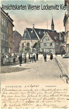 Ansichtskarte Bensheim Hospitalplatz
