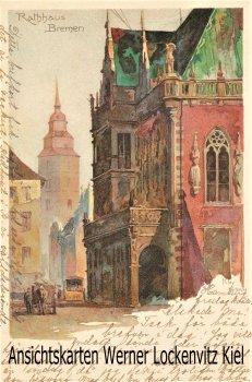 Ansichtskarte Bremen Rathaus Künstlerkarte sign. Kley
