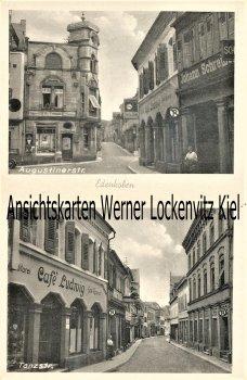 Ansichtskarte Edenkoben Augustinerstr. Tanzstr. mit Cafe Ludwig