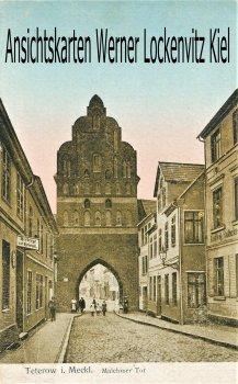 Ansichtskarte Teterow Malchiner Tor mit Herberge zur Heimat