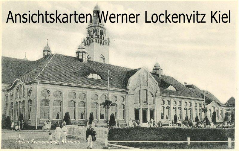 Ansichtskarte Polen Pommern Kurhaus in Swinemünde Świnoujście