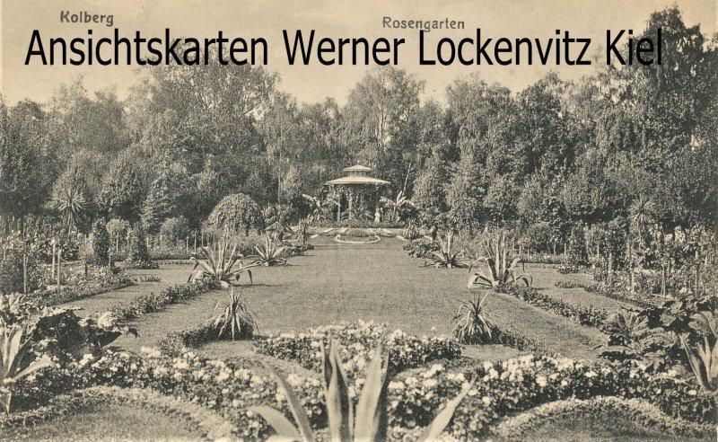 Ansichtskarte Polen Kolberg Kolobrzeg Rosengarten