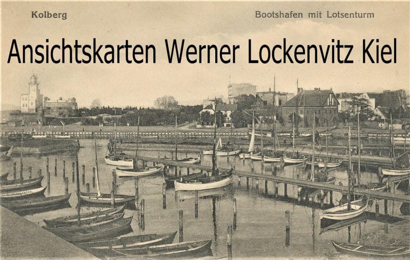Ansichtskarte Polen Kolberg Kolobrzeg Bootshafen mit Lotsenturm