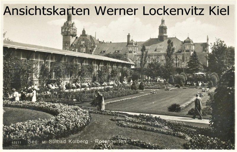 Ansichtskarte Polen Rosengarten in Kolberg Kolobrzeg