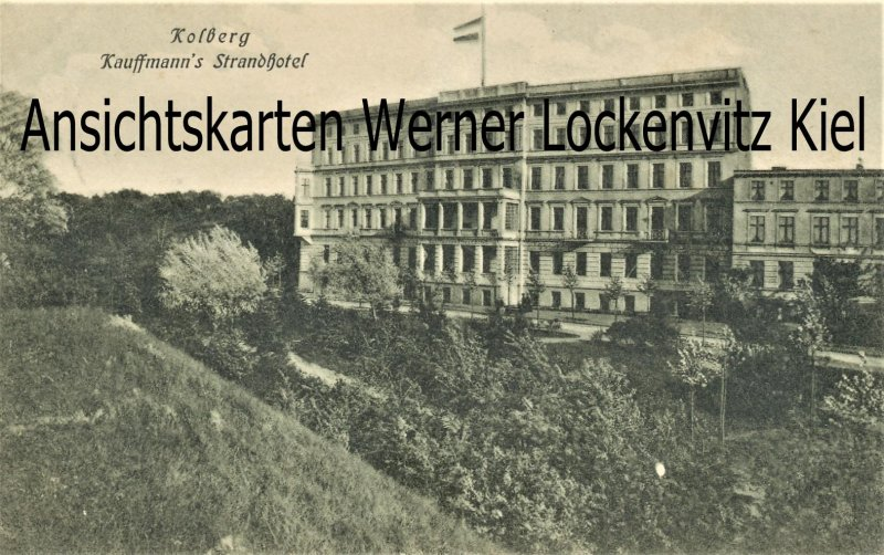 Ansichtskarte Polen Kolberg Kolobrzeg Kaufmanns Strandhotel
