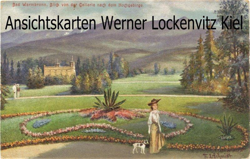 Ansichtskarte Polen Hirschberg-Bad Warmbrunn Jelenia Góra-Cieplice Śląskie-Zdrój Blick von der Gallerie nach dem Hochgebirge