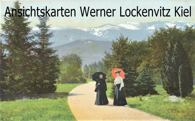 Ansichtskarte Polen Hirschberg-Bad Warmbrunn Jelenia Góra-Cieplice Śląskie-Zdrój zwei Frauen