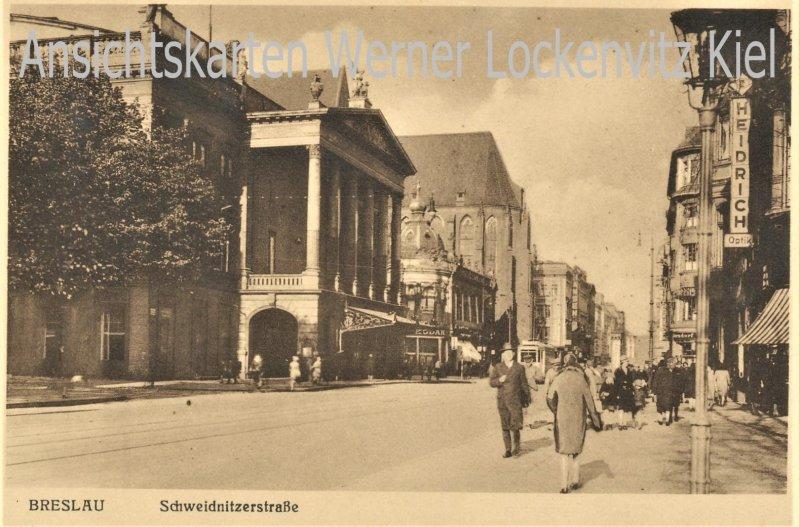 Ansichtskarte Polen Breslau Wroclaw Schweidnitzerstraße