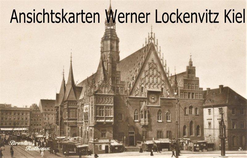 Ansichtskarte Polen Breslau Wroclaw Rathaus Trinks-Bildkarte