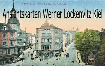 Ansichtskarte Halle Saale Untere Leipziger und Poststraße
