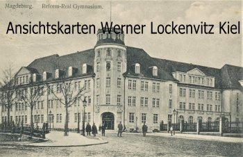 Ansichtskarte Magdeburg Reform-Real Gymnasium