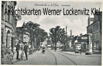 Ansichtskarte Schönebeck Markplatz