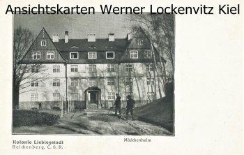Ansichtskarte Tschechien Reichenberg Liberec Kolonie Liebigstadt