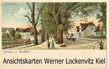 Ansichtskarte Dänemark Danmark Tønder Tondern Jungfernstieg