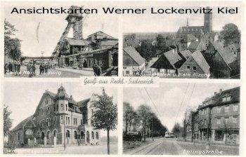 Ansichtskarte Recklinghausen-Suderwich Ehlingstraße Zeche