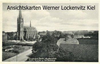 Ansichtskarte Recklinghausen-Suderwich Kath. Kirche und Caritashaus