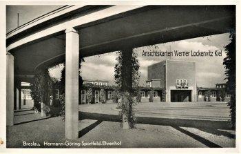 Ansichtskarte Polen Breslau Wroclaw Ehrenhof Hermann-Göring-Sportfeld SoStpl. 5. Sommerkampfspiele der HJ