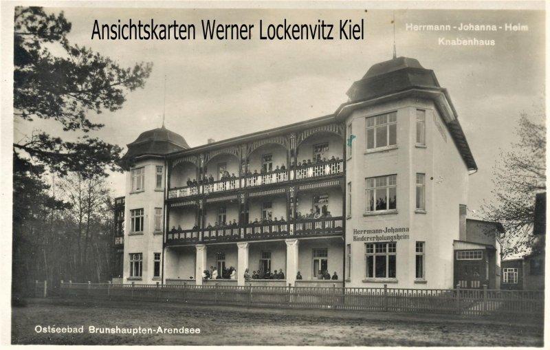 Ansichtskarte Kühlungsborn Brunshaupten Arendsee Hermann-Johanna-Heim Knabenhaus