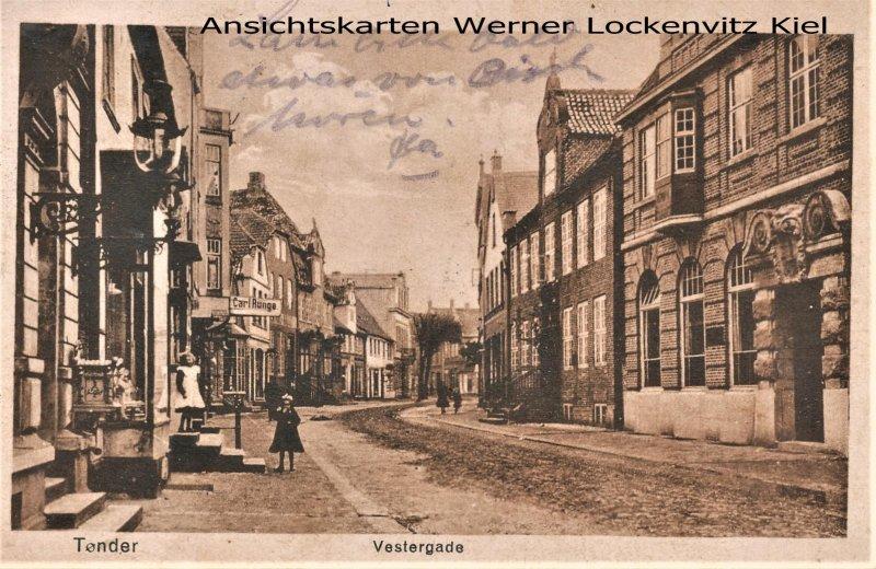 Ansichtskarte Dänemark Danmark Tønder Tondern Vestergade