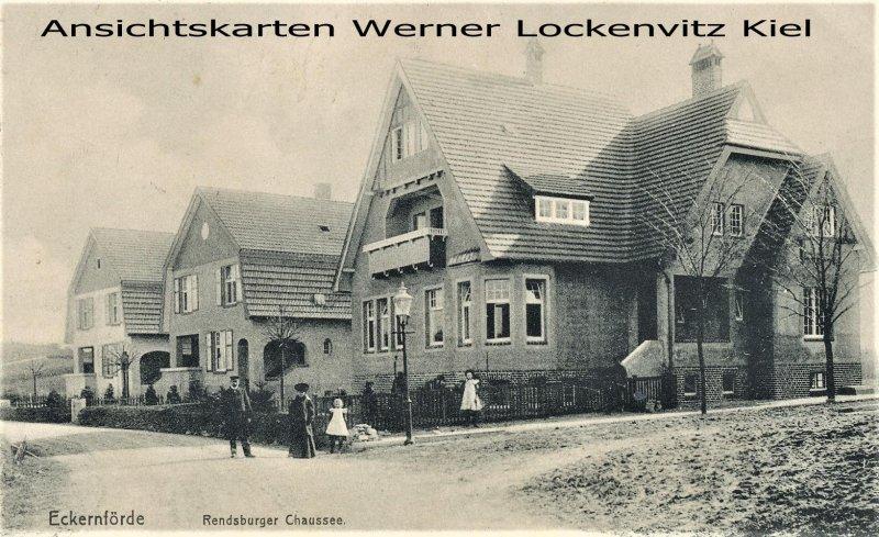Ansichtskarte Eckernförde Rendsburger Chaussee